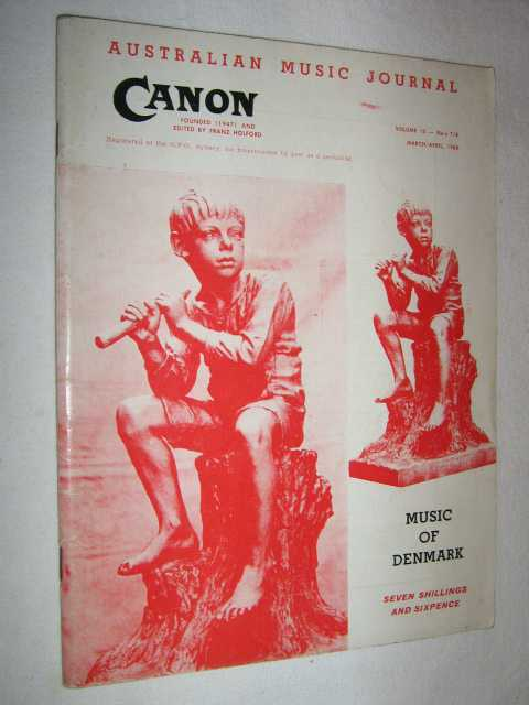 Image for Canon: Australian Music Journal vol 13 nos 7, 8 (in one edition) : March-April 1960