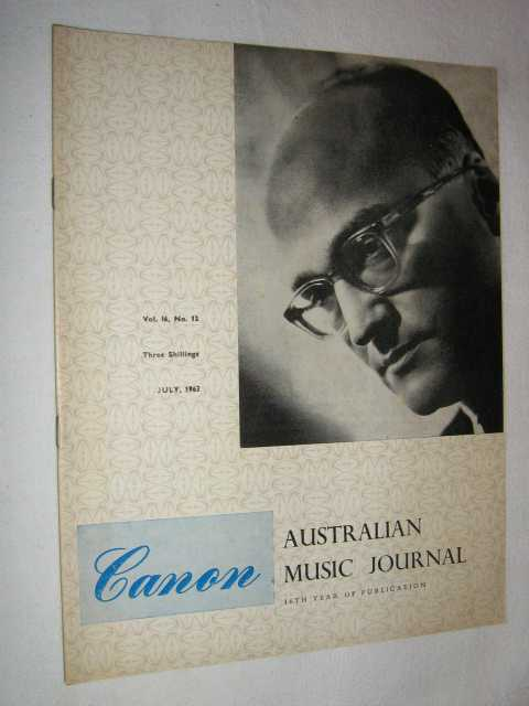 Image for Canon: Australian Music Journal vol 16 number 12