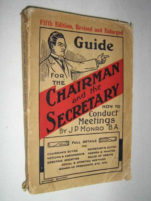 Image for Guide for the Chairman and the Secretary