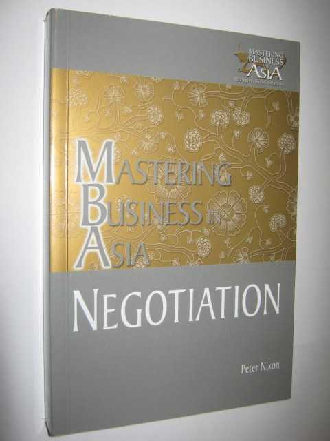 Image for Mastering Business in Asia: Negotiation