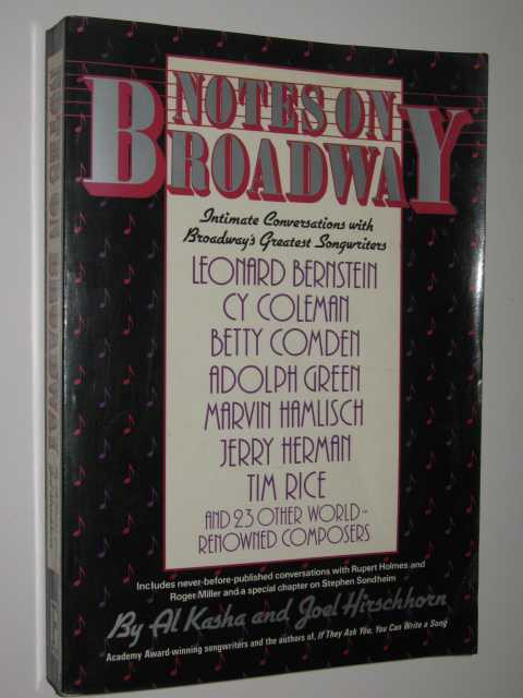 Image for Notes on Broadway : Intimate Conversations With Broadway's Greatest Songwriters