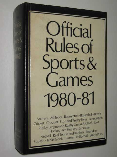 Image for Official Rules of Sports & Games 1980-1981