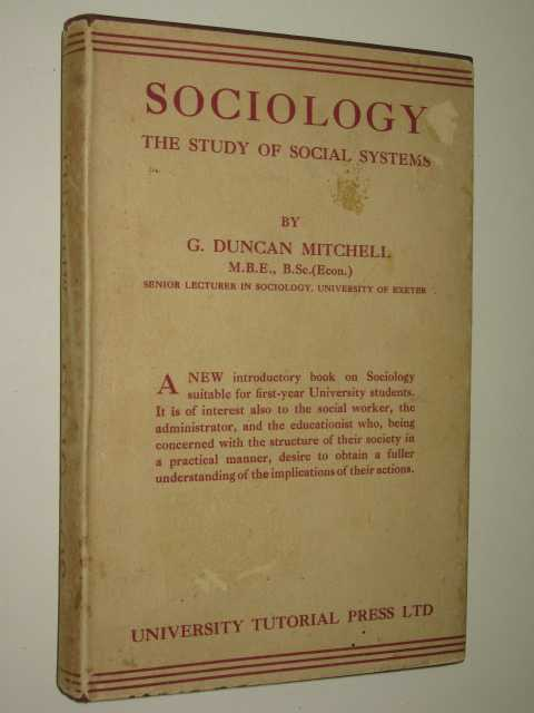 Image for Sociology : The Study Of Social Systems