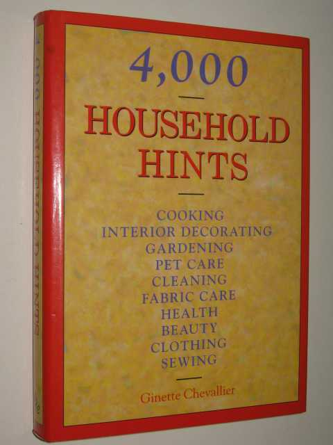 Image for 4000 Household Hints