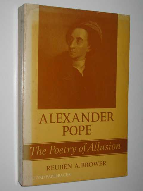 Image for Alexander Pope: The Poetry of Allusion