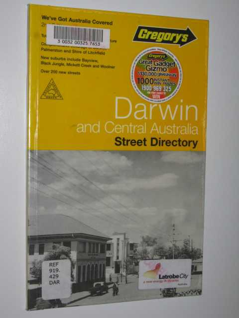 Image for Gregory's Darwin and Central Australia Street Directory