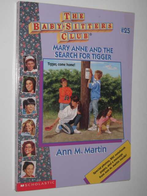 Image for Mary Anne and the Search for Tigger - Baby-Sitters Club Series #25