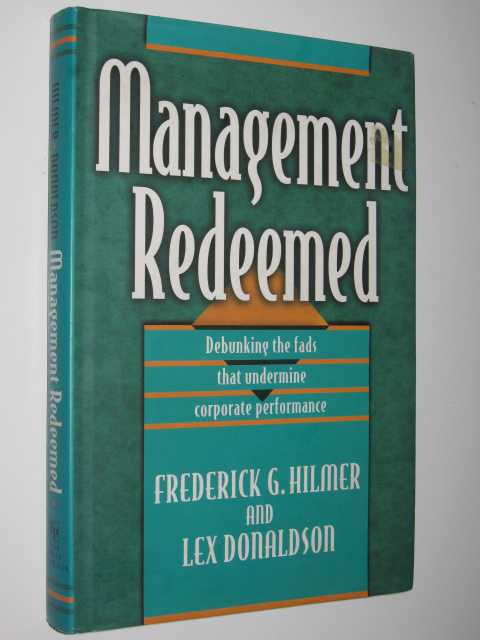 Image for Management Redeemed : Debunking the Fads that Undermine Corporate Performance