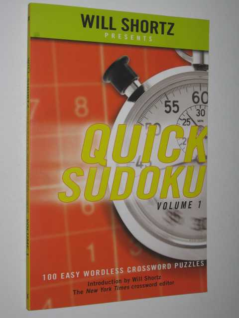 Image for Quick Sudoku : 100 Easy Wordless Crossword Puzzles