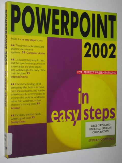 Image for Powerpoint 2002 In Easy Steps