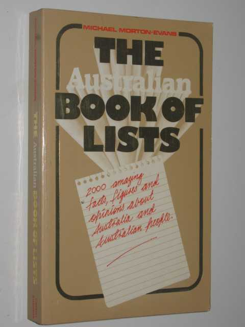 Image for The Australian Book of Lists