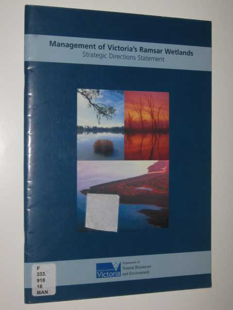 Image for Management Of Victoria's Ramsar Wetlands