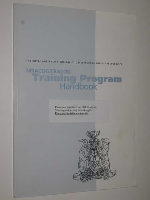 Image for MRACOG/FRACOG Training Program Handbook