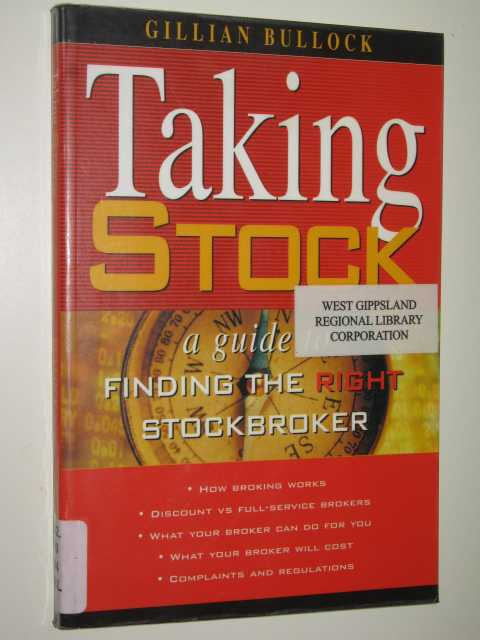 Image for Taking Stock : A Guide To Finding The Right Stockbroker