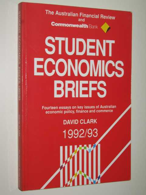 Image for Student Economics Briefs 1992/93