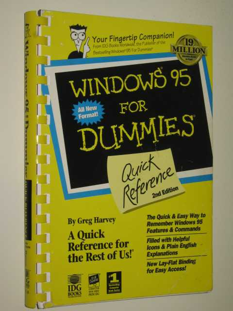 Image for Winodws 95 For Dummies : Quick Reference