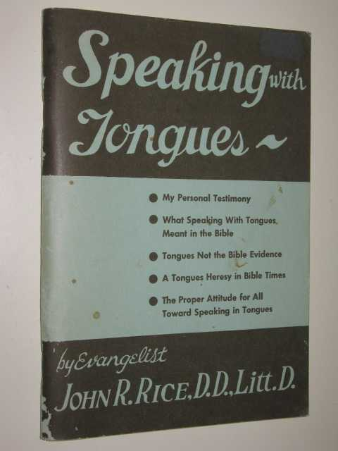 Image for Speaking With Tongues