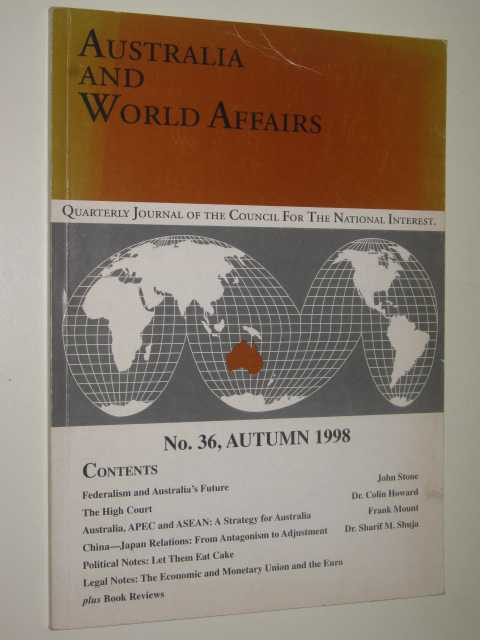 Image for Australia And World Affairs