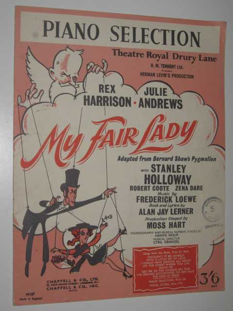 Image for My Fair Lady: Piano Selection