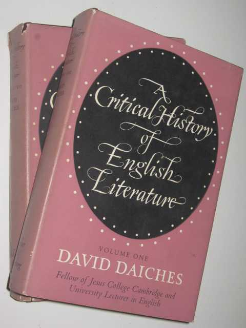 Image for A Critical History of English Literature in Two Volumes