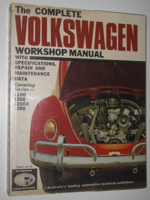 Image for The Complete Volkswagen Workshop Manual : With Specifications, Repair and Maintenance Data