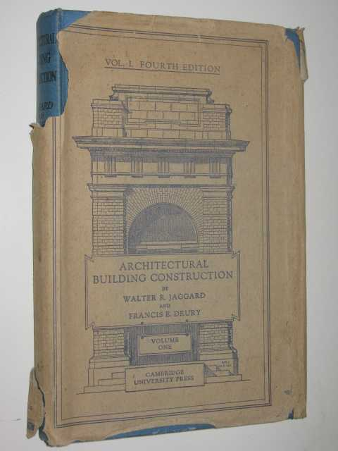 Image for Architectural Building Construction Volume 1