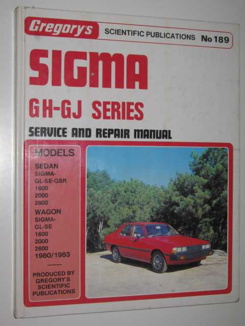 Image for Sigma GH-GJ Series Service and Repair Manual