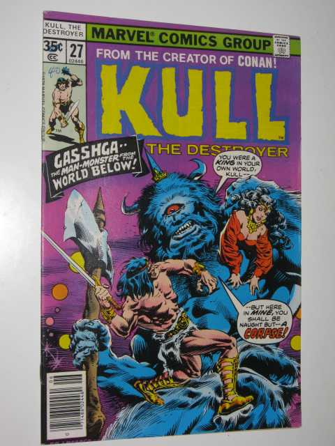 Image for Kull the Destroyer No.27 : Gasshga, the Man-Monster from the World Below