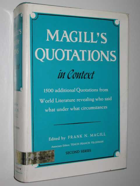 Image for Magill's Quotations in Context : Second Series