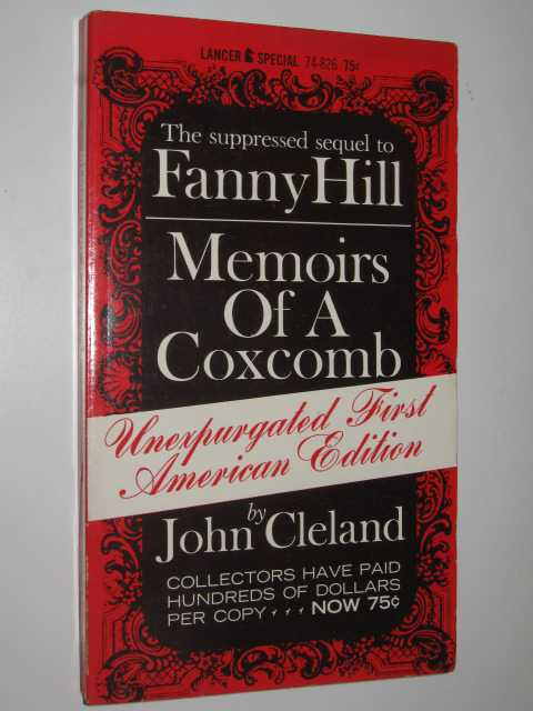 Image for Memoirs of a Coxcomb : The Suppressed Sequel to Fanny Hill