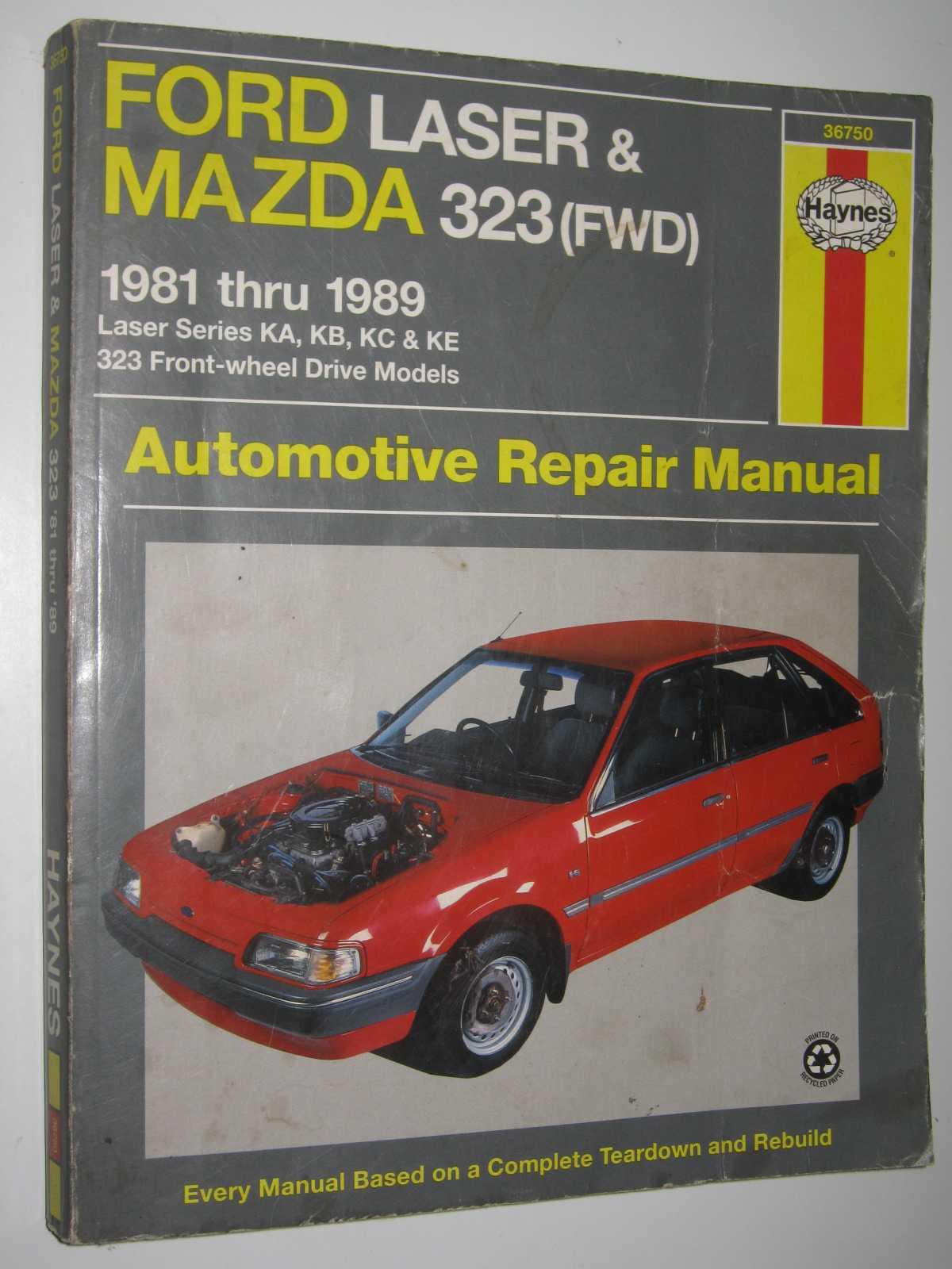 Image for Ford Laser & Mazda 323 automotive repair manual 1981 thru 1989 :  Laser series