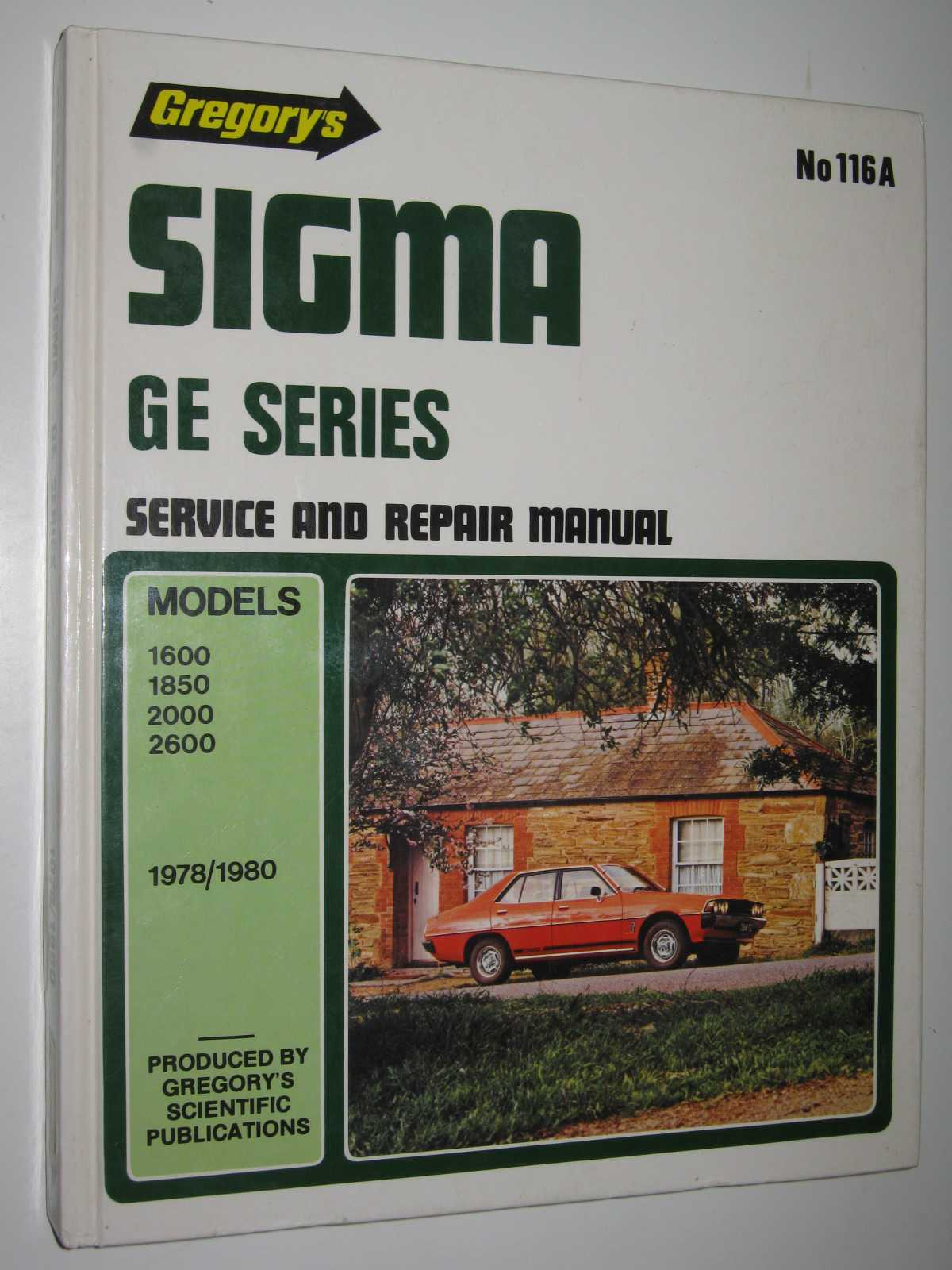 Image for Sigma GE Series 1978/1980 Models 1600, 1850, 2000, 2600 - Service and Repair Manual Series #116