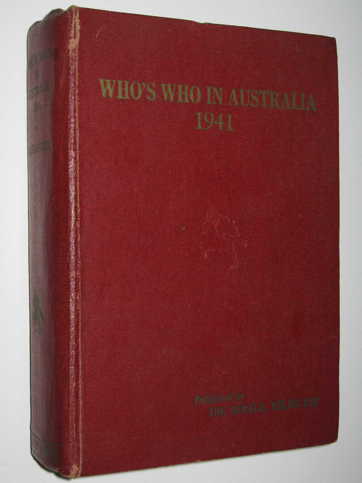 Image for Who's Who In Australia 1941