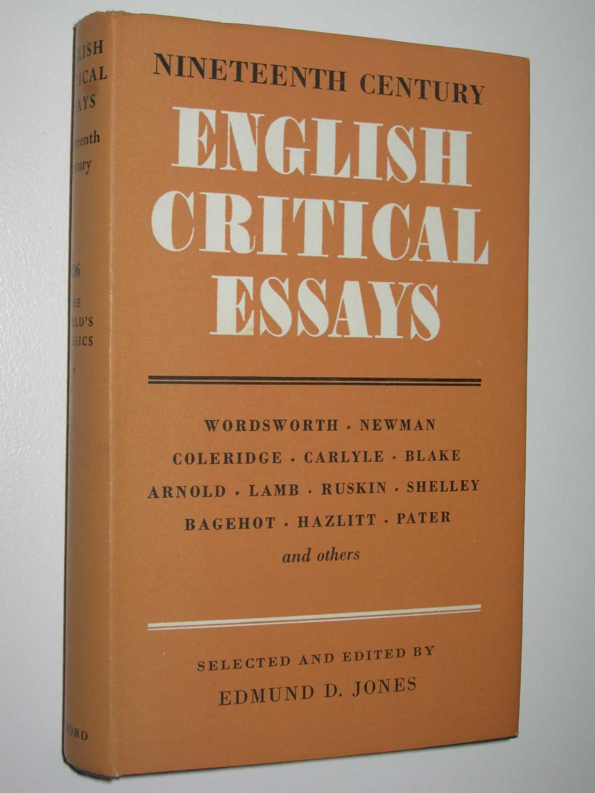 Image for English Critical Essays (Nineteenth Century) - The World's Classics Series #206
