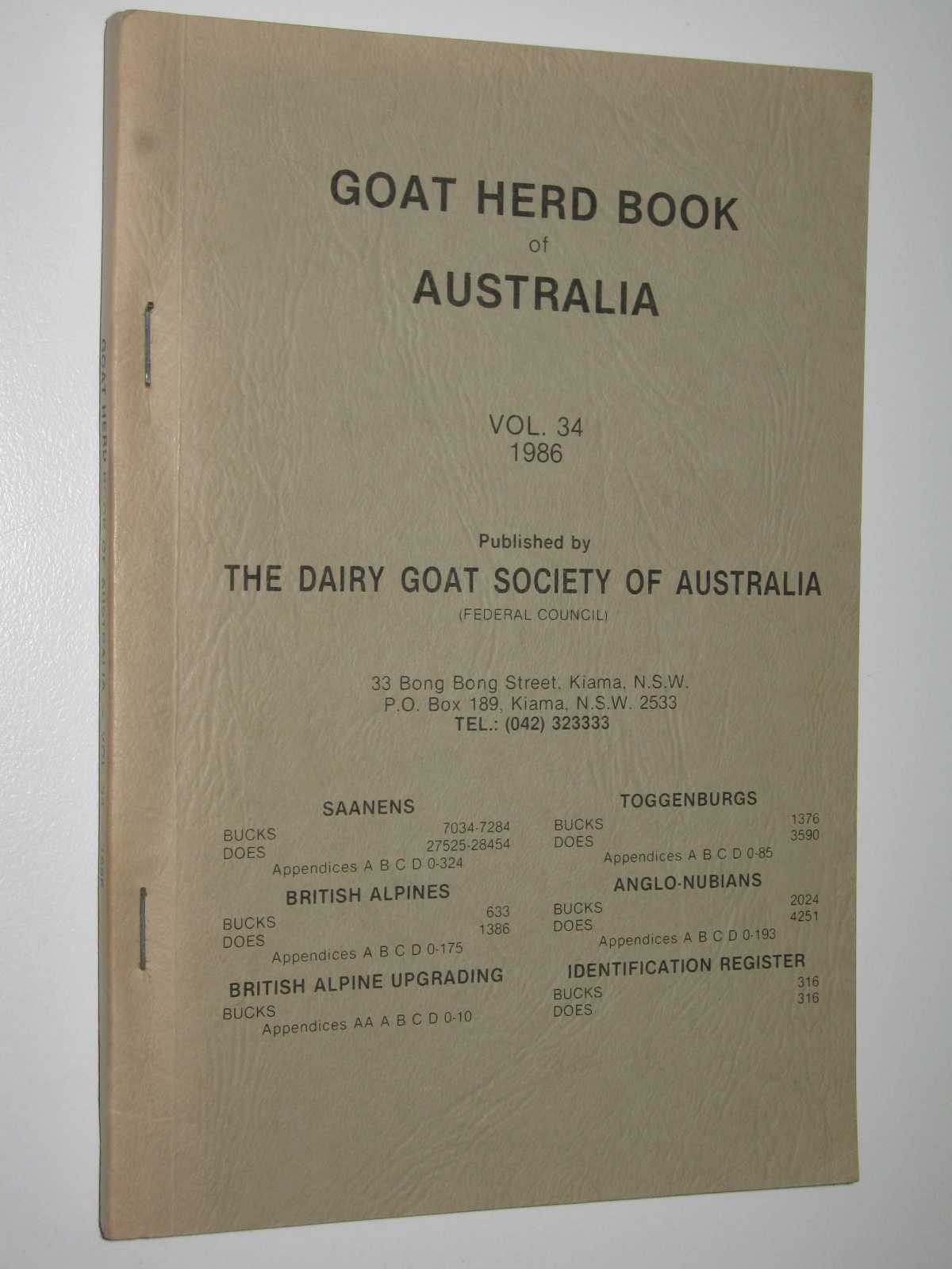 Image for Goat Herd Book of Australia Vol. 34