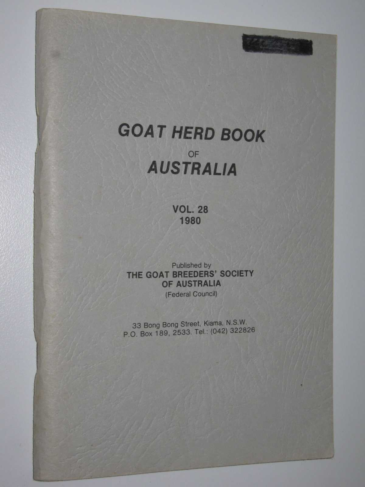 Image for Goat Herd Book of Australia Vol. 28