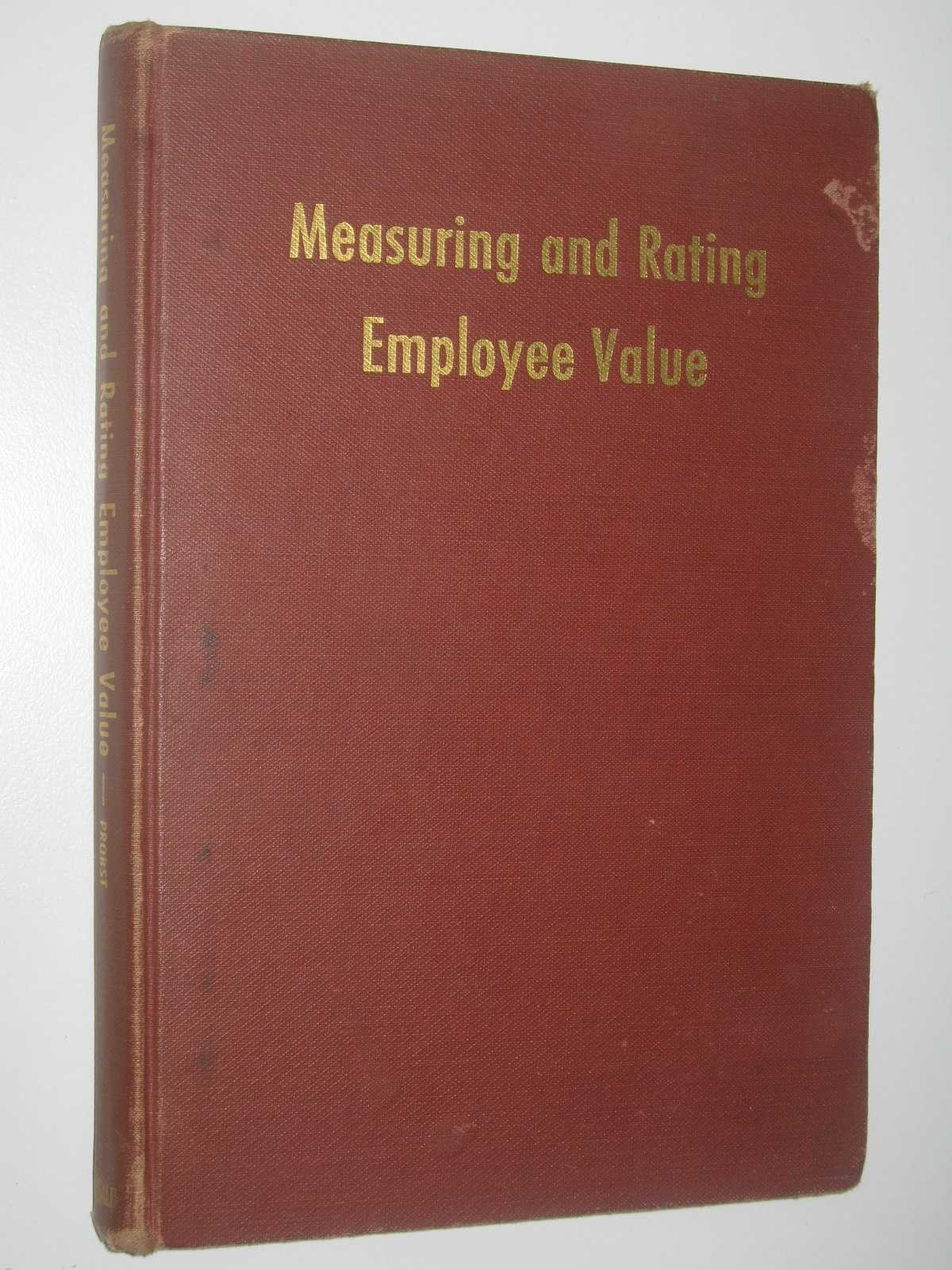 Image for Measuring and Rating Employee Value