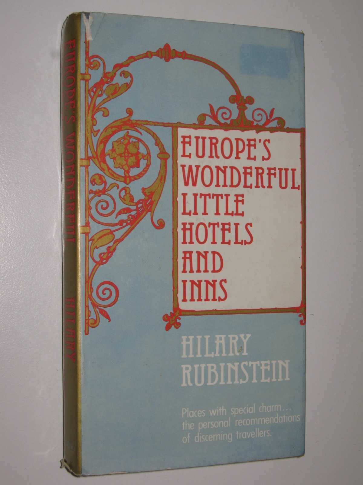 Image for Europe's Wonderful Little Hotels and Inns