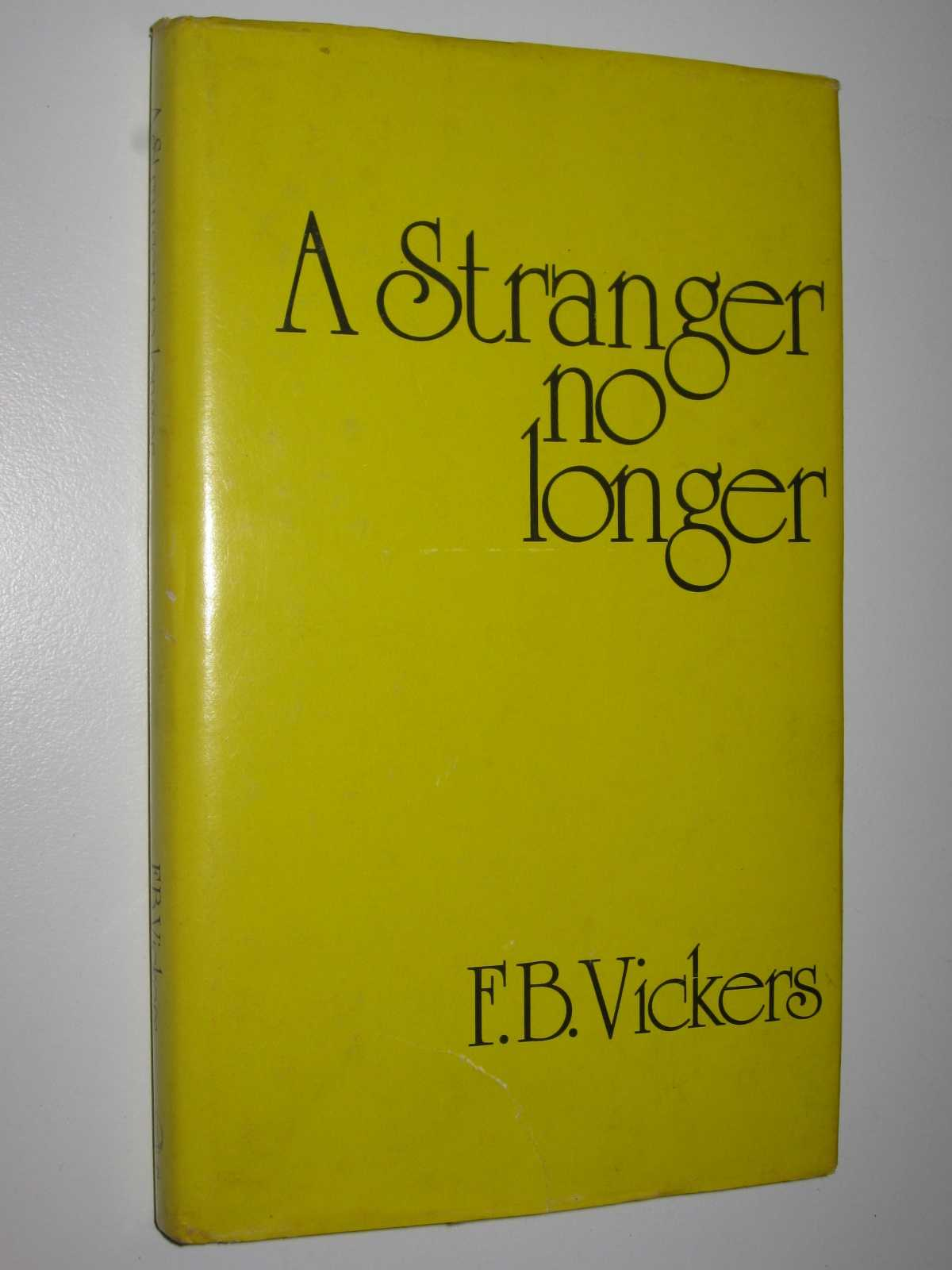 Image for A Stranger No Longer