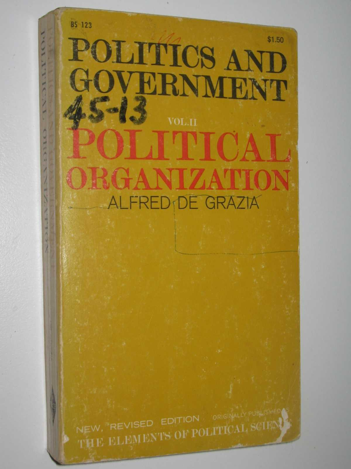 Image for Politics and Government Volume 2: Political Organization