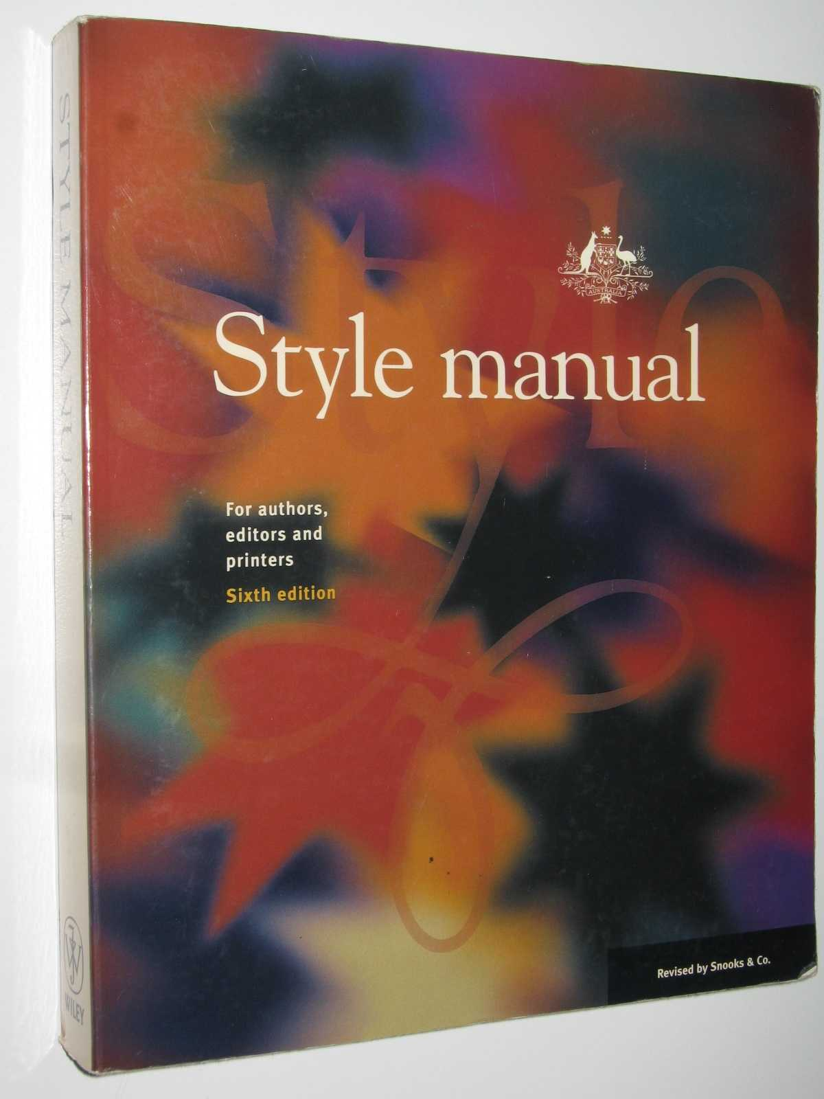 Image for Style Manual: For Authors, Editors and Printers