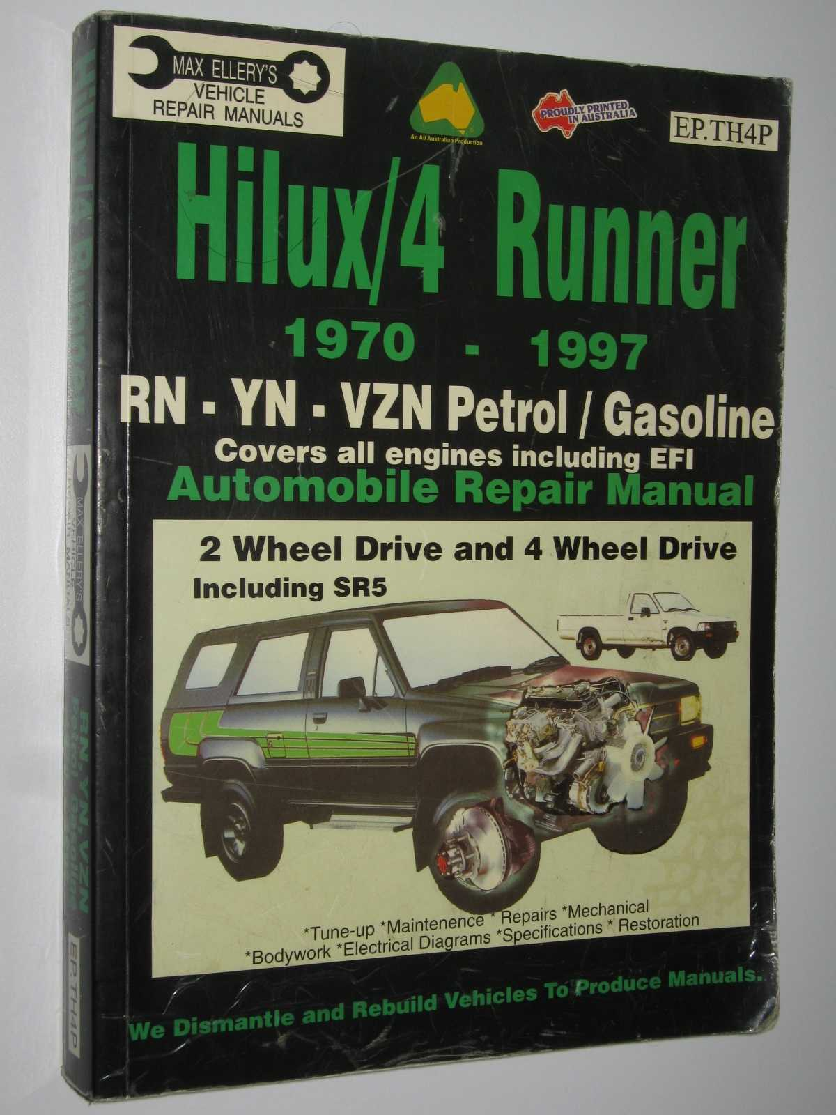 Image for Toyota Hilux/4 Runner 1970-1997 Petrol Engines : Automobile Repair Manual