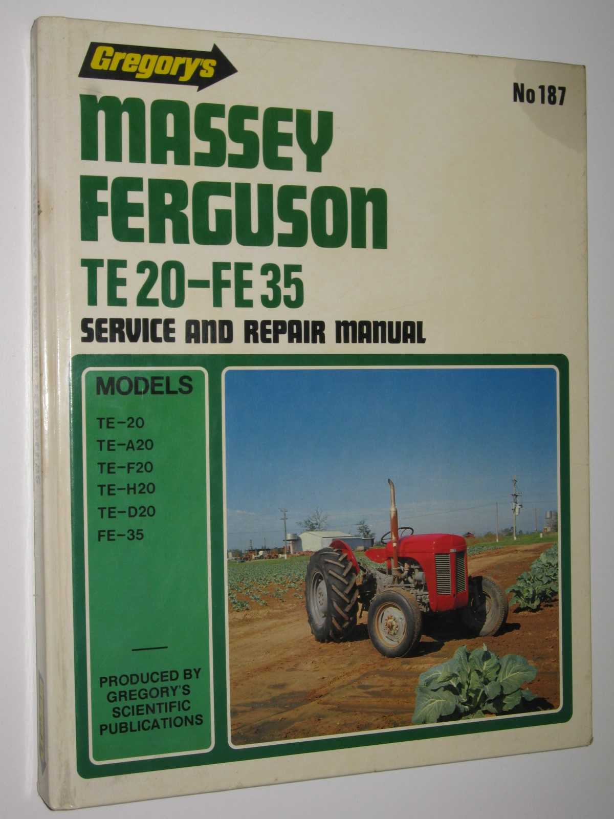 Image for Massey Ferguson TE20-FE35 Service and Repair Manual