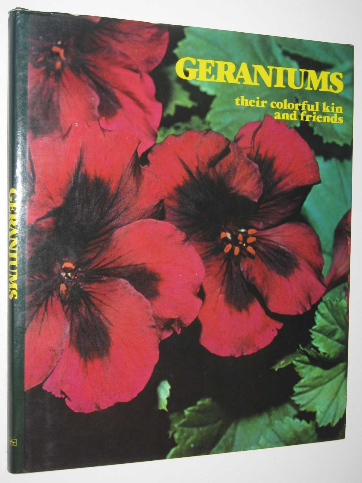 Image for Geraniums : Their Colorful Kin and Friends