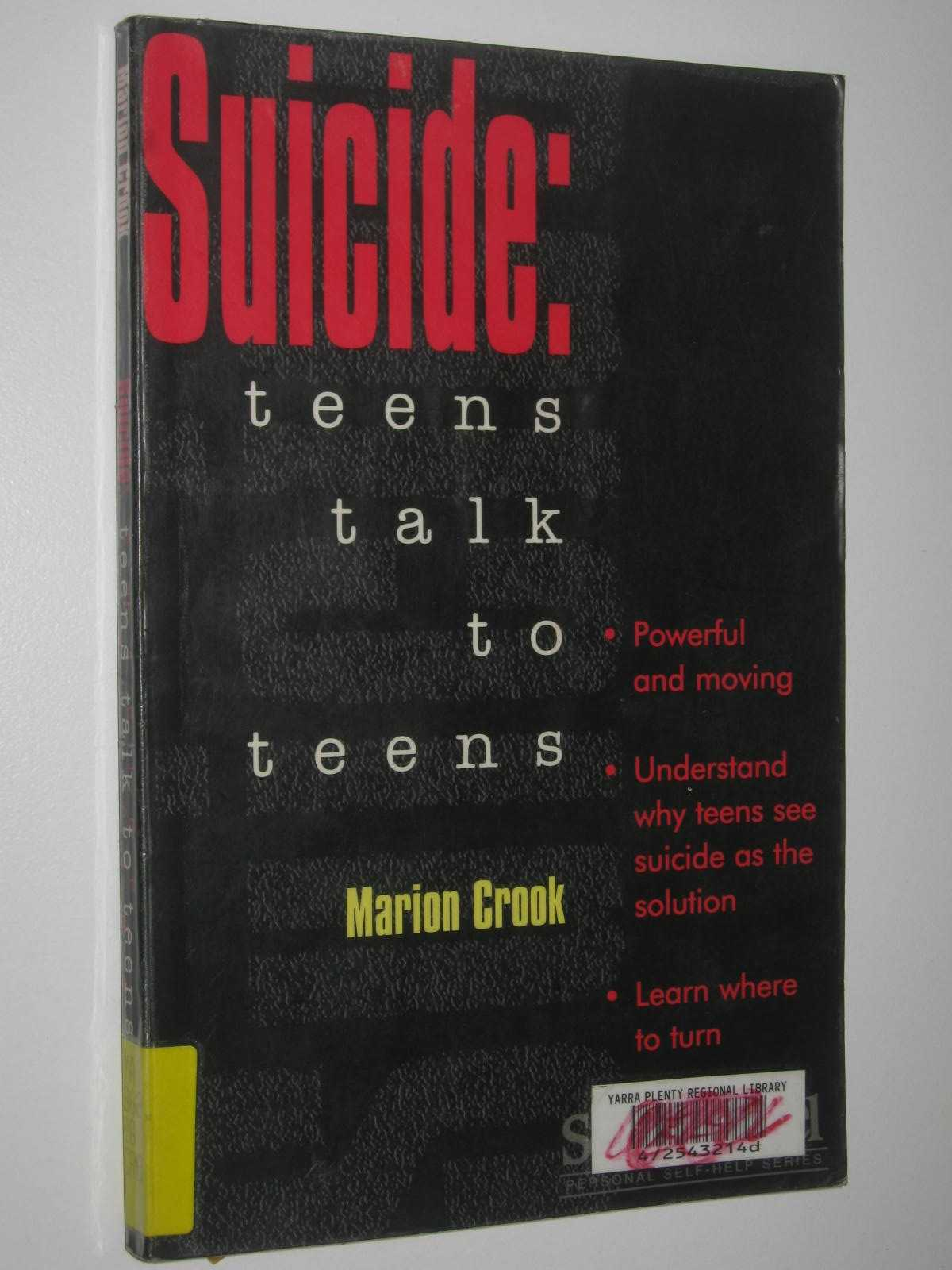 Image for Suicide: Teens Talk to Teens